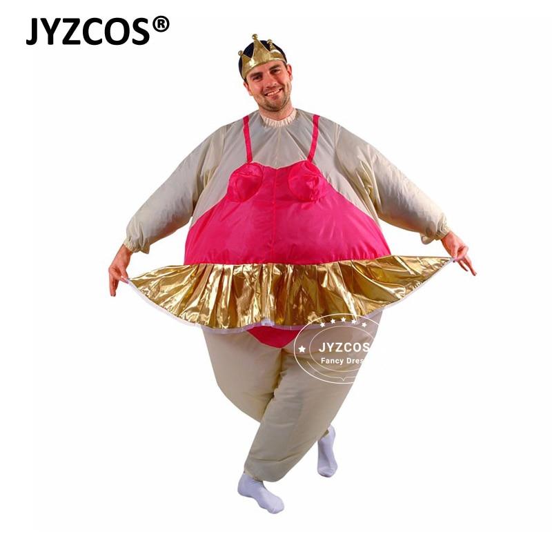 JYZCOS Purim Halloween Christmas Party- ի փչովի Ballerina - Կարնավալային հագուստները - Լուսանկար 2