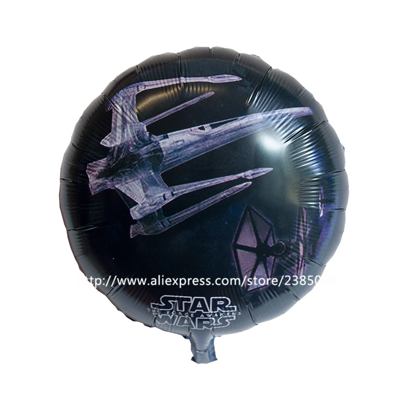 50pcs/lots arrival star wars balloons round bubble balloons 18 inch birthday bal
