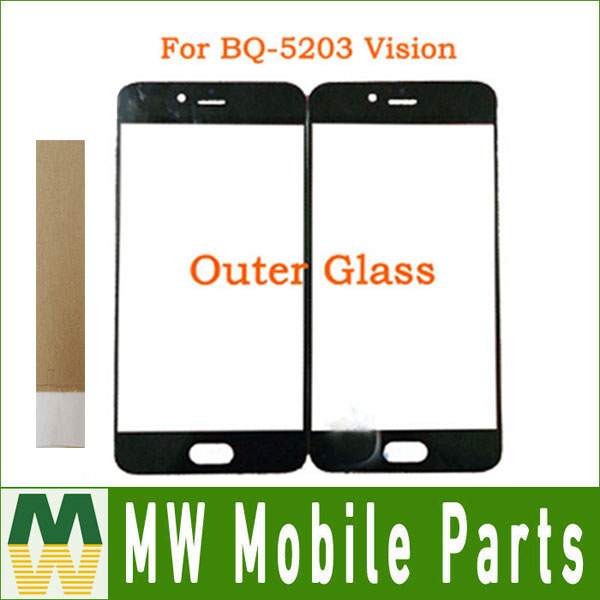 For BQ BQ5203 BQ-5203 BQ 5203 BQ5201 BQ-5201 BQ 5201 Touch Scree L Front Outer Glass Black Color withTape
