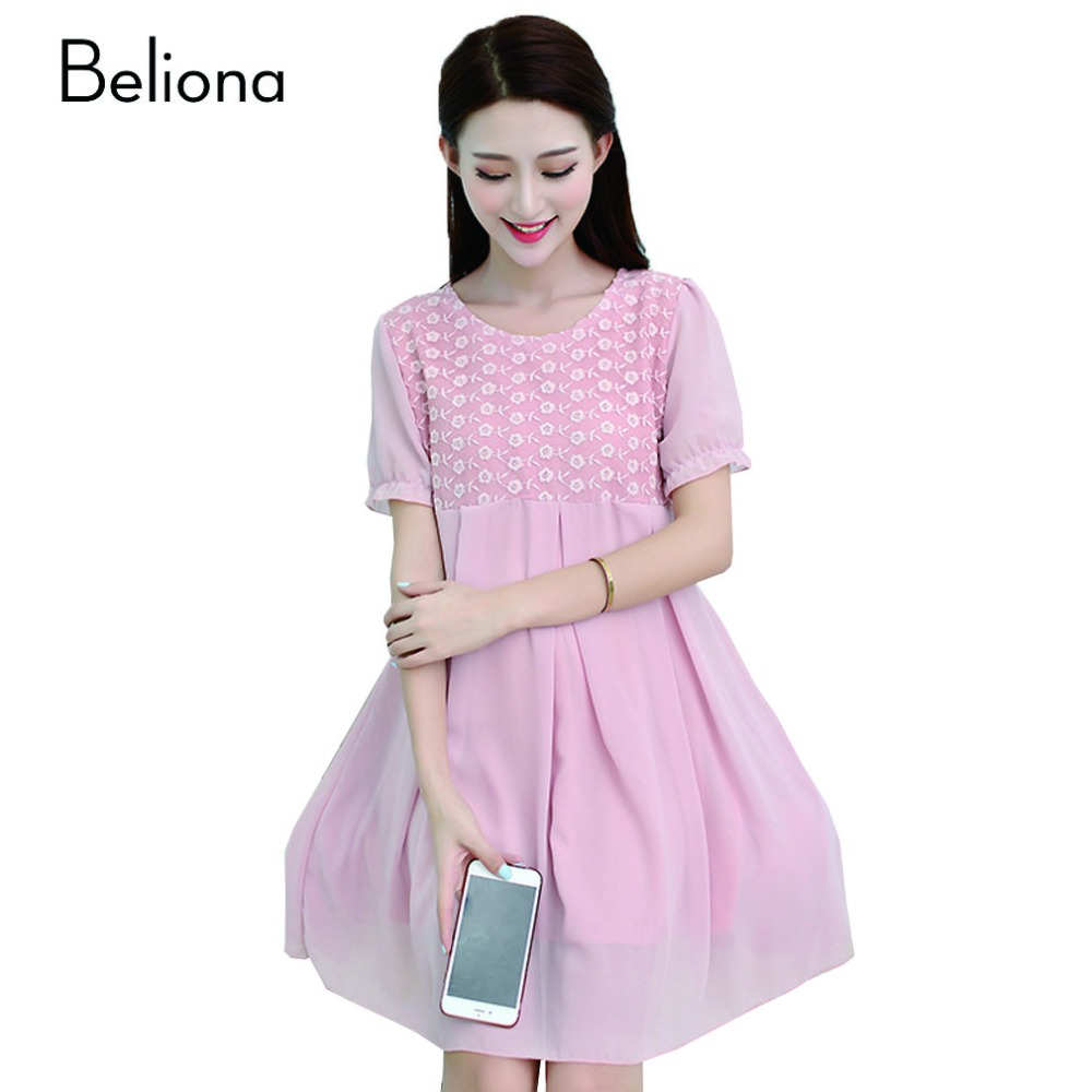 c4b91a65bf22e Big Sale Promotion Maternity Dress, Short Sleeve Patchwork Casual ...