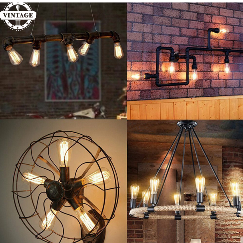 LightInBox 6pcs/lot E27 40W Retro edison bulb lamp decorative home light ST64 Vintage Edison bulb Incandescent light bulb