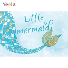 Yeele Mermaid Birthday Photocall Party Room Decor Photography Backdrops Personalized Photographic Backgrounds For Photo Studio