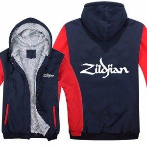 Image 3 - Neue Winter Zildjian Hoodies Jacke Männer Lässig Dicke Fleece Hüfte Hop Zildjian Sweatshirts Pullover Mann Mantel