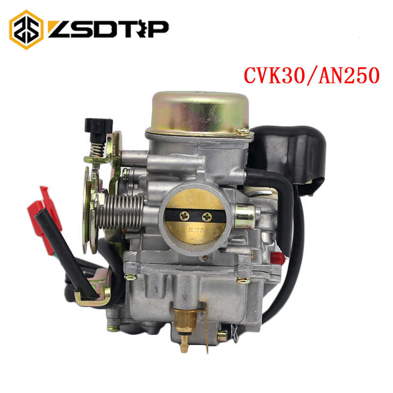 Zsdtrp CVK30 30 Mm Karbohidrat Karburator untuk Cvk 150cc ~ 250cc ATV Skuter GY6 150 VOG Tank 260 Skuter Balap sepeda Motor Rep Keihin
