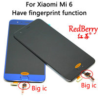 Redberry For MI 6 LCD Replacement For Xiaomi Mi6 LCD Display Touch Digitizer Screen Front Mounted
