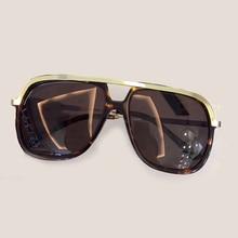 Quadrado do vintage Da Moda Óculos De Sol Dos Homens de Alta Qualidade com Embalagem Caixa de Oculos Feminino de Alta Qualidade Oculos de sol Masculino