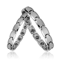 High Polish Magnetic Link Unisex Men's Tungsten Bracelets For Women Men Couple Lovers Gifts Jewelry