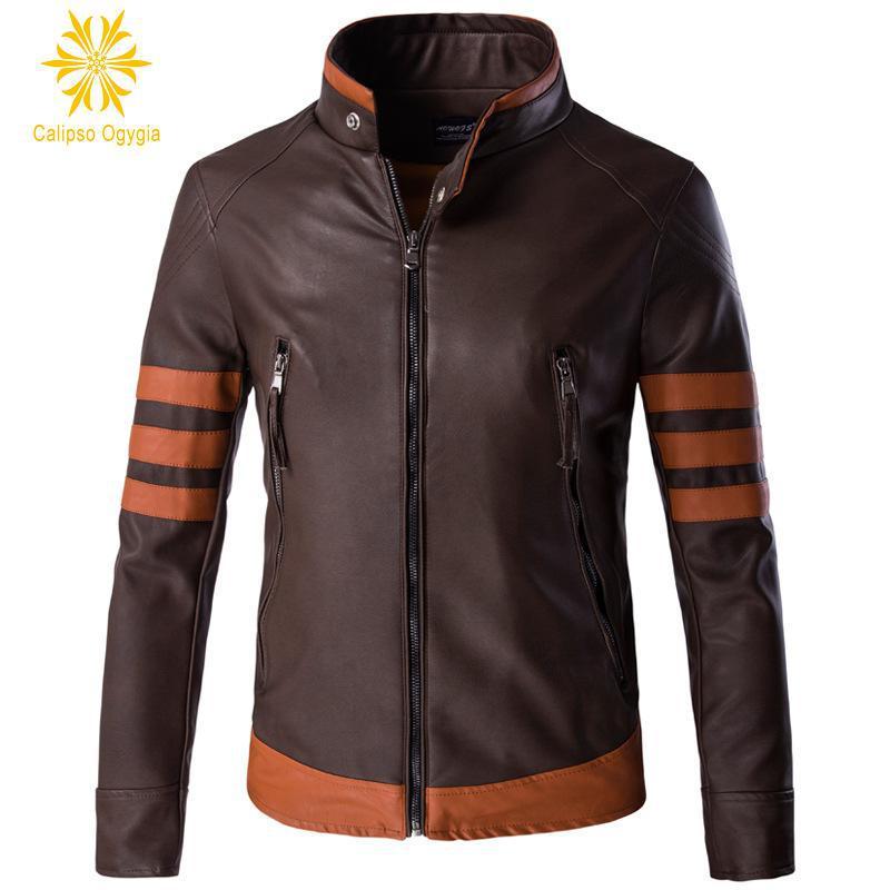 New Moive Film Style Plus size M 3XL 4XL 5XL Men's Genuine Lambskin Leather Jacket Black Slim fit Biker Motorcycle jackets