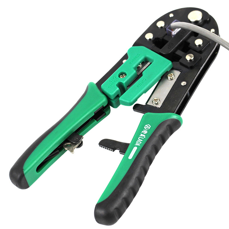 Tools : LAOA 6P 8P Ratchet Network Pliers Wire Cutter Crimping Tools Wire Cable Press Pliers Multools