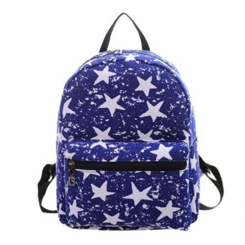 Girls Women Canvas School Bag Travel Backpack Shoulder Ba