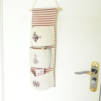 Wall Hanging Storage Sea navy Cotton Linen Bag Best Children's Lighting & Home Decor Online Store