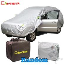 Cawanerl impermeable cubierta de coche al aire libre sol Anti UV lluvia nieve resistente toda la temporada adecuado Auto cubre para SUV Hatchback Sedán