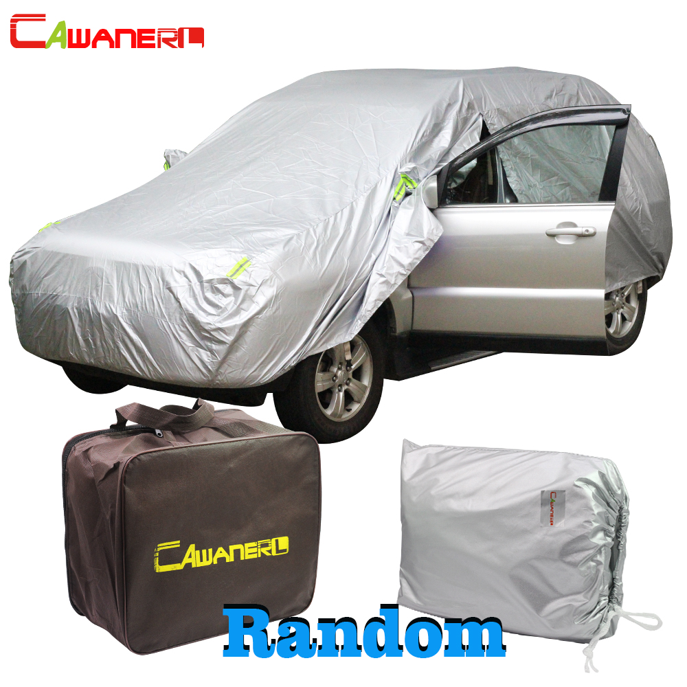 Cawanerl bâche de voiture étanche soleil extérieur Anti UV pluie neige résistant toutes les saisons couvertures Auto adaptées pour SUV berline à hayon