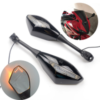 Motorcycle LED Turn Signals Rearview Sport Bike Mirrors for For Honda CBR 600 900 1000 RR CBR300R CBR500R CBR250R