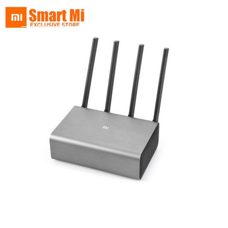 Anglais Original Xiao mi routeur Pro WiFi répéteur AC2600 2.4G/5GHz double bande APP contrôle sans fil corps métallique mu-mi MO routeurs