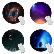 MaiYaCa Space Eye Pattern Prints Mouse Pad Small Size Round Gaming Non-Skid Rubber Pad