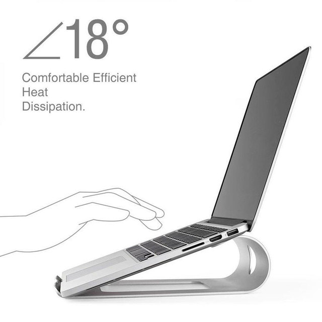 Mosible Portable Aluminum Alloy Laptop Stand for Macbook Pro/Air Stand Notebook Holder Metal Bracket Computer Accessories