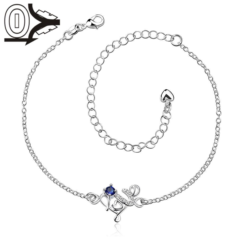 A035-A Free Shipping Lose Money Large Stock Delicate Handmade Cheap Silver Plated Anklet Ladies Feet Chain Bracelets Bulk Sale