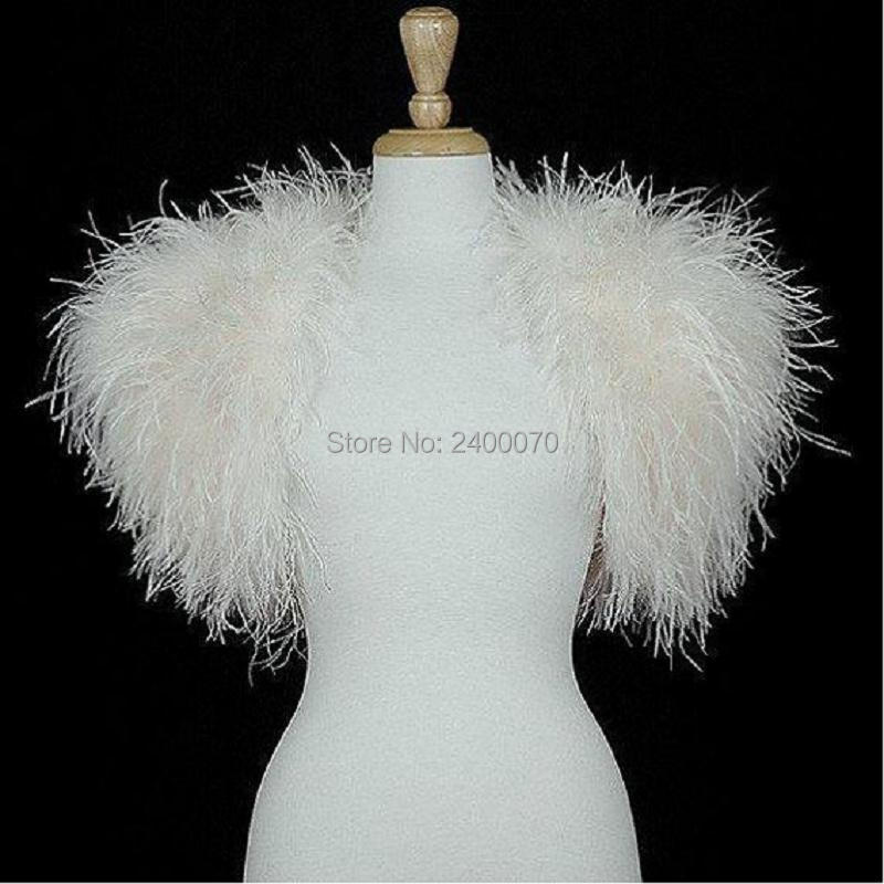 Popular ostrich feather wraps buy cheap ostrich feather for Wedding dress with ostrich feathers