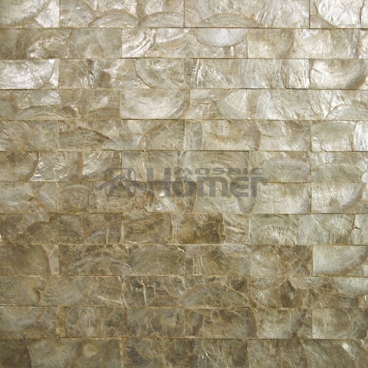 luxury golden capiz tiles mesh backing, for wall decor, wall ...