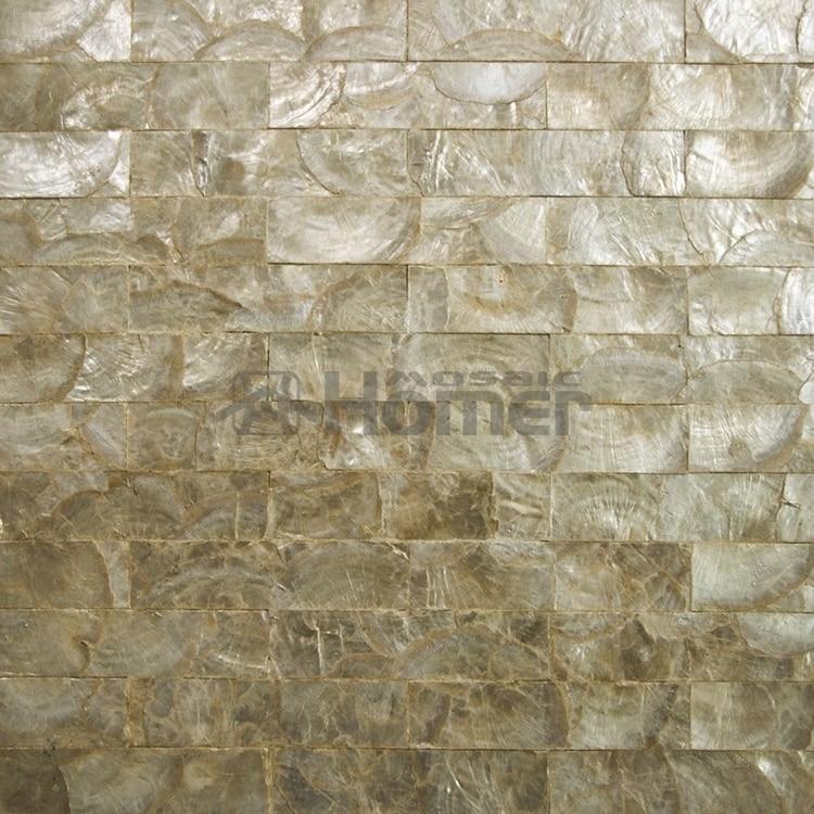 Buy luxury golden capiz tiles mesh - Capiz shell bathroom accessories ...