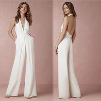 2017 New Spring Fashion Women Jumpsuit Sleeveless Hollow Out Backless Elegant Sexy Bodusuit Slim Regular Long