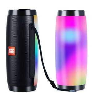 Image 1 - TOPROAD Portable Bluetooth Speaker 10W Wireless Stereo Column Subwoofer LED Colorful Speakers Support TF card FM Radio USB AUX