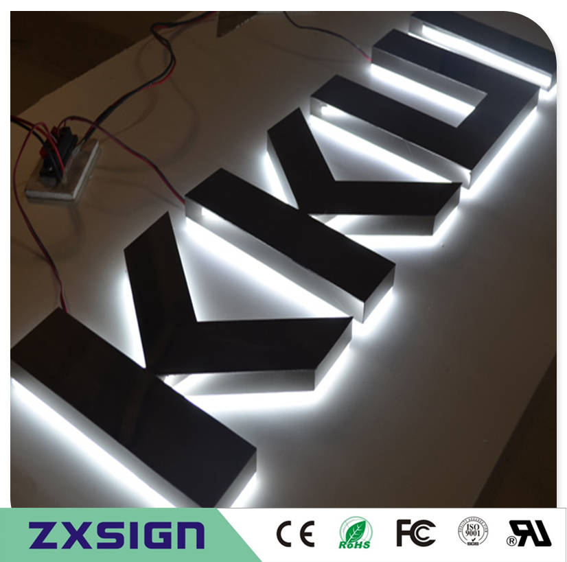 Factory Outlet Stainless Steel Led Backlit Lighted Letters