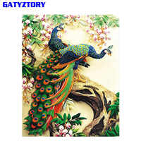 GATYZTORY Frameless Peacock DIY Painting By Numbers Modern Wall Art Canvas Painting Animal Unique Gift For Home Wall Decor 40x50