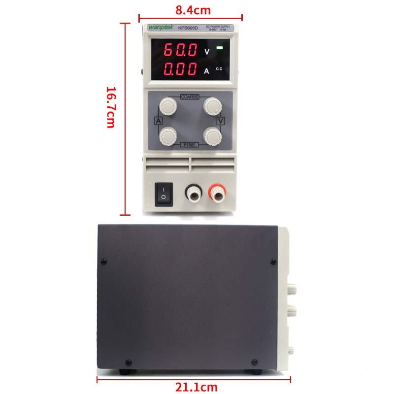 High precision low ripple 0.001A0.01V 0-30V0-10A Digital Adjustable DC Power Supply sets with Tester Probe+alligator clip (3)