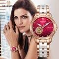 Женские керамические часы STARKING  высококачественные часы ААА с чарующим скелетом  подарок для женщин