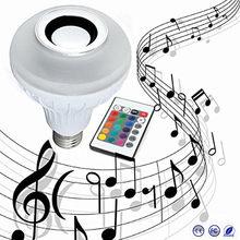 Беспроводной 12 Вт мощность e27 led rgb bluetooth динамик лампа