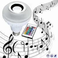 E27 12 W de Potência LED rgb sem fio Bluetooth Speaker Lâmpada Luz Música Jogando & Iluminação RGB com Controle Remoto
