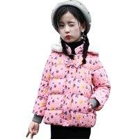 Dziewczyny kurtka zimowa Dziecko Dziewczyna dół kurtki Parki Płaszcz Z Kapturem niemowlę dół kurtki Dla Dzieci W Dół Kurtki Dziewczyny śnieg wear niemowląt płaszcz