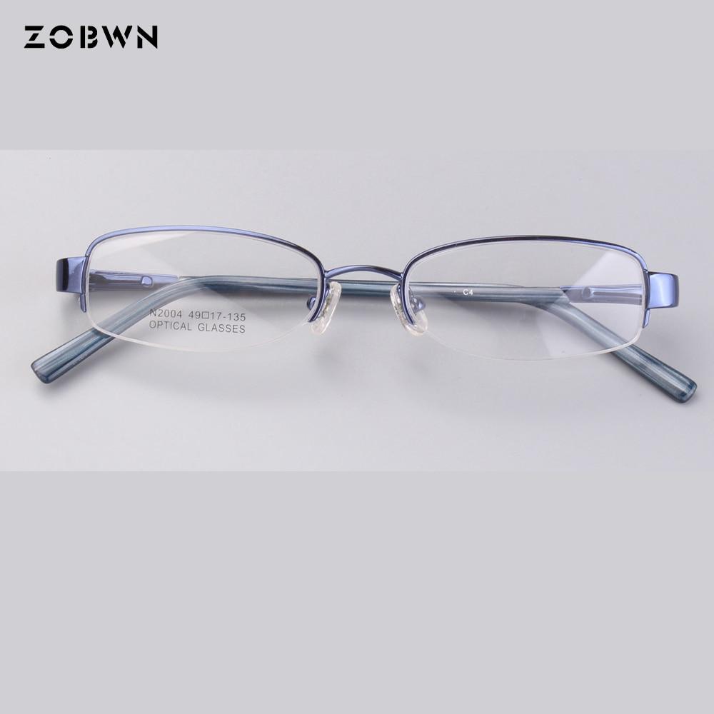 Einfache halb rahmen gläser frauen optischen rahmen für lesen frauen ...