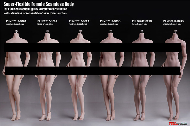 TBLeague Phicen 16 Scale Seamless Body Skeleton