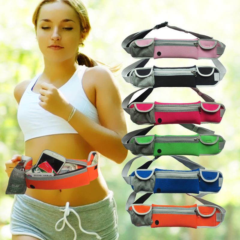 Universal Waterproof Sport Gym Running belt Waist Bag Sport Case with water bottle For LG G3