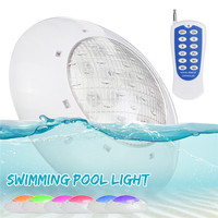 LED Pool Light RGB Underwater Lights 55W AC/DC 12V LED Swimming Pool Lighting+Remote control IP68 For Outdoor Pond Party Decor