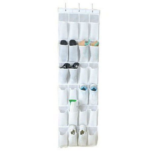 Shoe storage Hanging organizer system for the door for up to 12 pairs of white