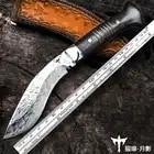 Voltron Hand gesmeed Damascus staal mes, patroon stalen mes zelfverdediging leger, outdoor mes