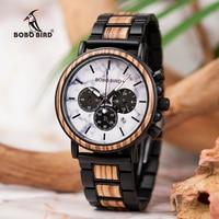 relogio masculino BOBO BIRD Watch Men Luxury Stylish Wood Watches Timepieces Chronograph Military Quartz Men's Gift Quartz Watches