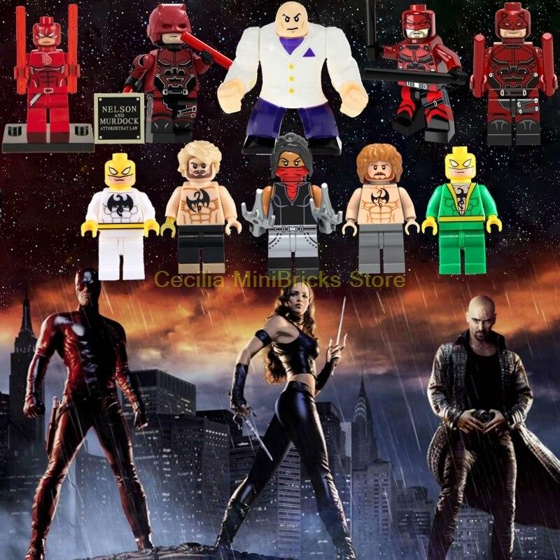 Blocks Single Legoings Figure Matt Murdoch Winter Soldier Daredevil Super Hero Batman Spiderman Building Blocks Toys For Children Gift Cheap Sales 50%
