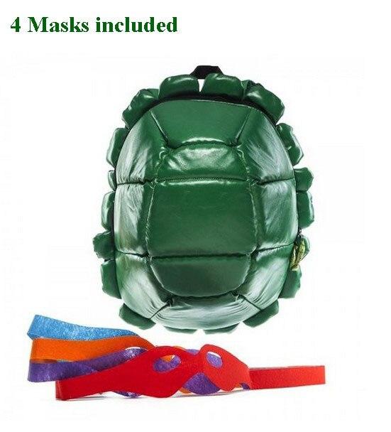 Teenage Mutant Ninja Turtles bag teenage mutant ninja turtles Backpack Turtle Backpack Including 4 Masks With Tag In stock