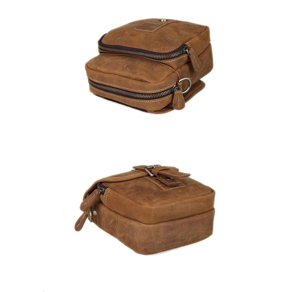 d6f5465b1ac3 Baigio Men Leather Shoulder Bags Vintage Brown Ialian Leather ...