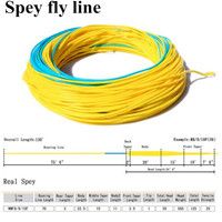 Maximumcatch Fly Fishing Line 7 10wt 125FT Blue Yellow Color With 2 Welded Loop Weight Forward