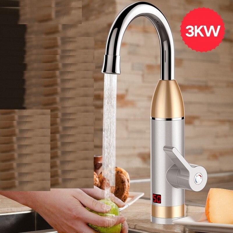 NANUM chauffe-eau électrique sans réservoir chauffe-eau instantané robinet de chauffage à froid chauffe-eau instantané pour Kitche EU Plug