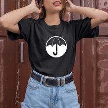 The Umbrella Academy T Shirt Women Casual Summer Tshirts Cotton Femme Tops & Tees Vintage Black White Pink Gray T-shirt Women цена
