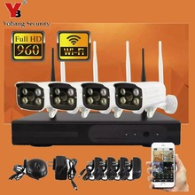 YobangSecurity 4CH Wireless Wifi NVR Camera System 960P 4x Wifi Weatherproof Outdoor Video Surveillance Home Security Camera