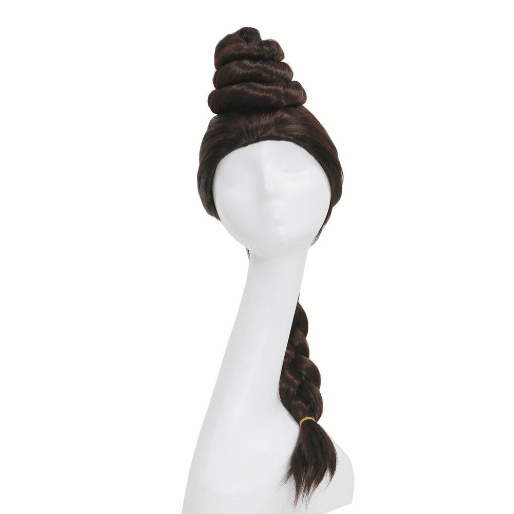 X-COSTUME Star Wars Princess Leia Cosplay Props Coffee Brown Long Braid Hair Women Festival Party Costume Headwear Accessories