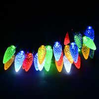 220V 110V fraise style C6 LED lumière de chaîne-24.6ft longueur (50) LED s fête lumières en plein air vacances LED guirlande décor